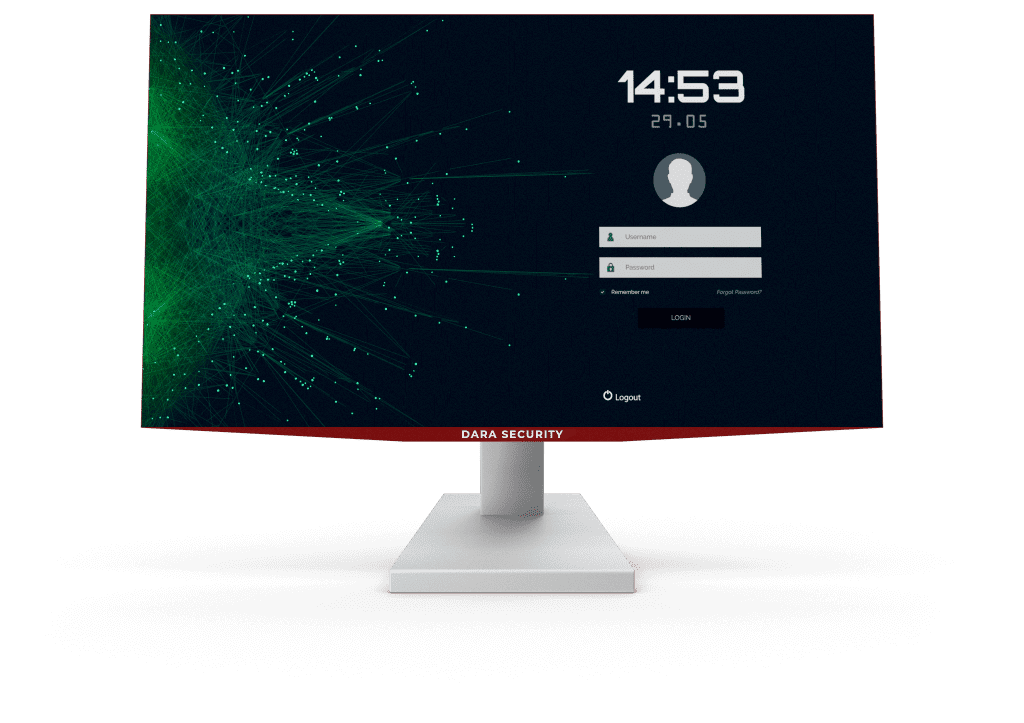 Dara Security computer monitor secure login
