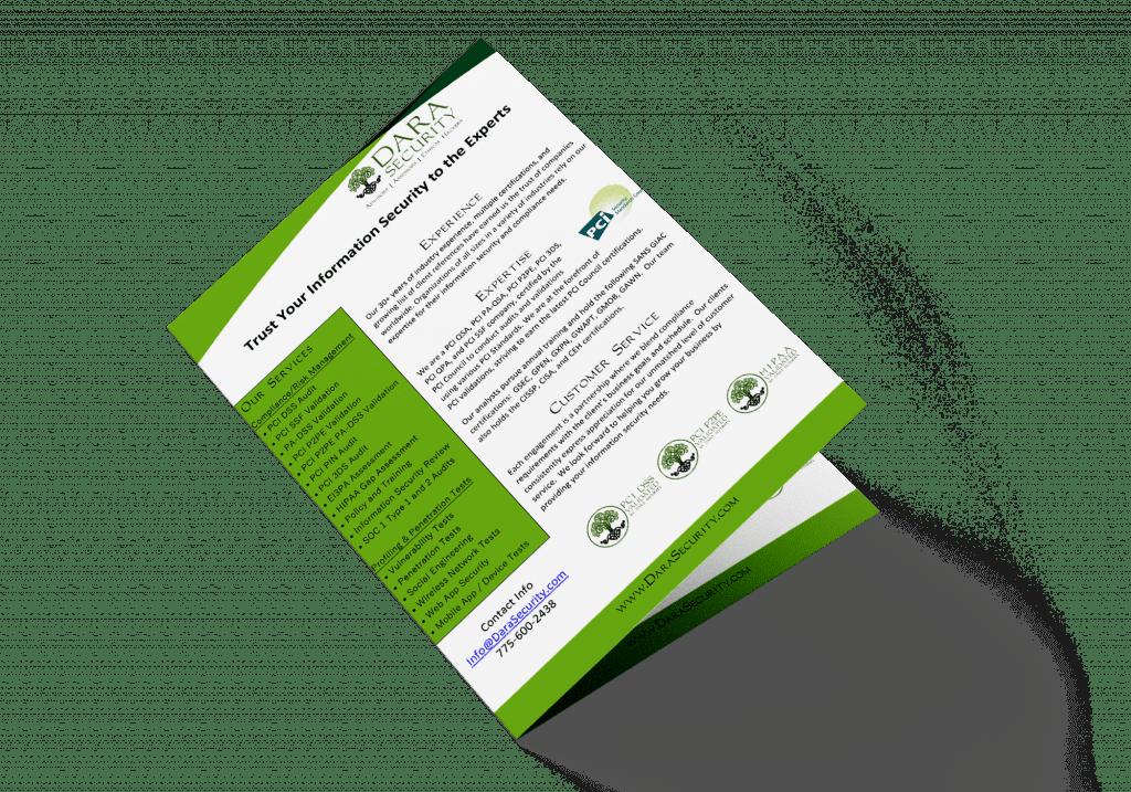 Dara Security marketing pamphlet